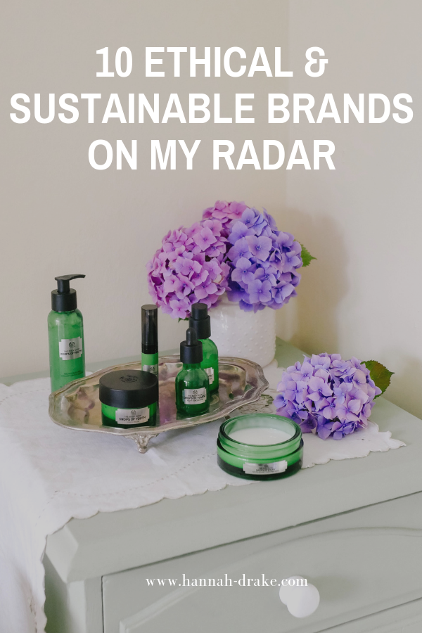 10 Ethical & Sustainable Brands on My Radar