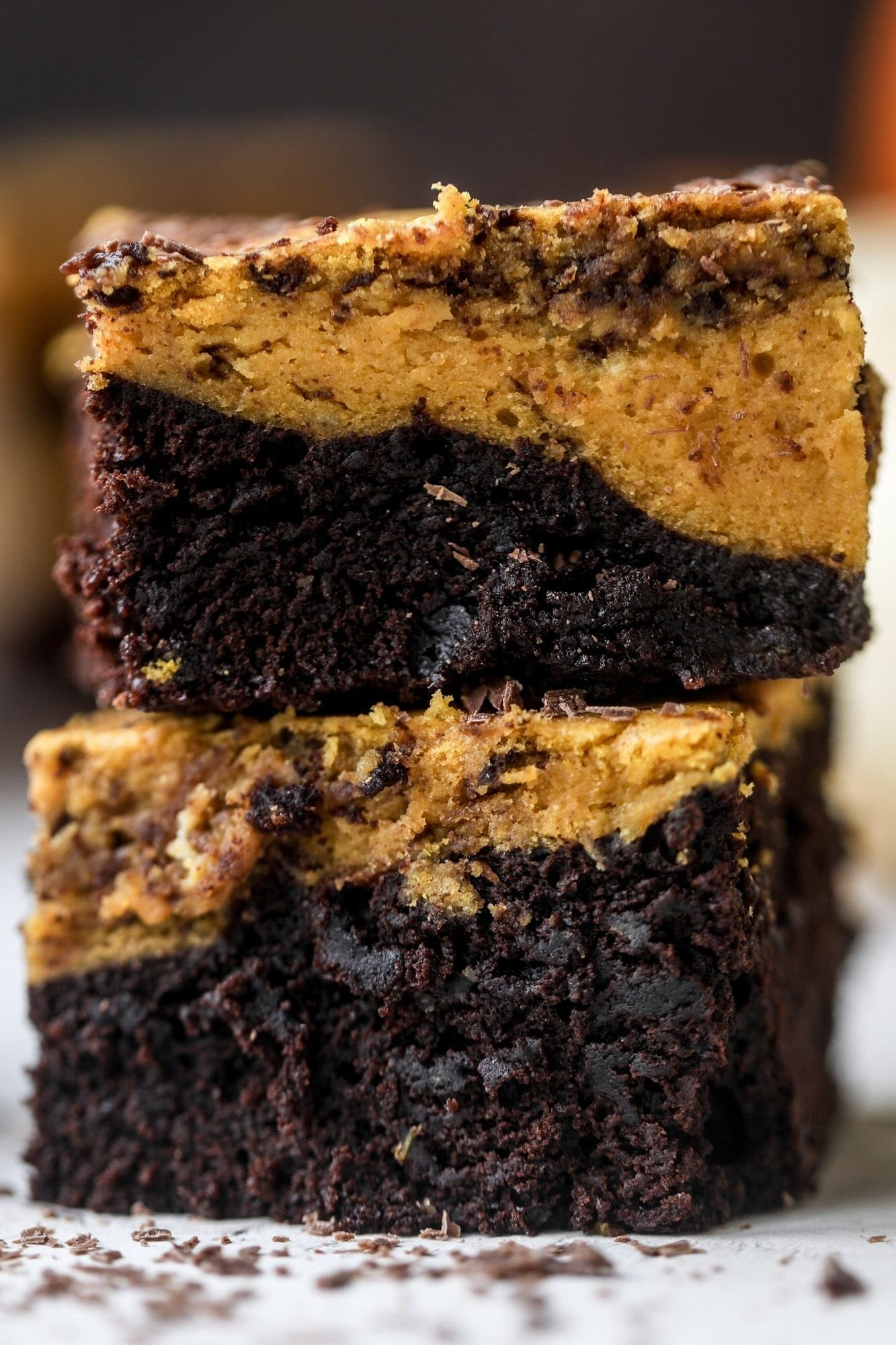 Pumpkin Fudge Brownies from How Sweet Eats