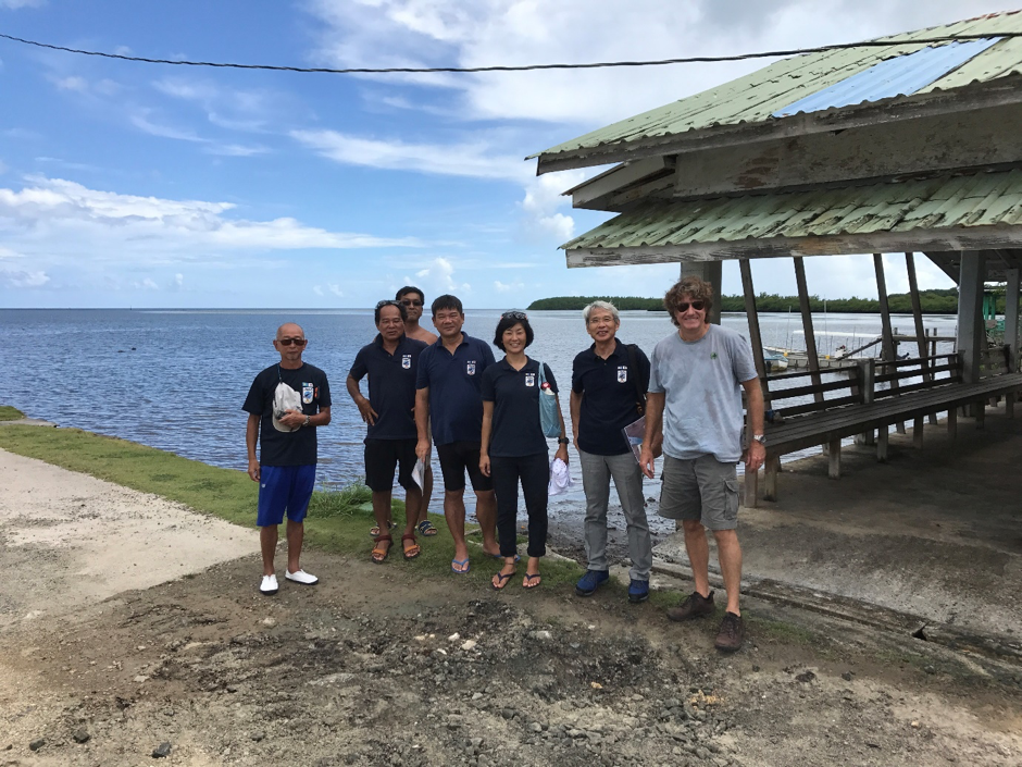 JMAS team at the cable landing station site