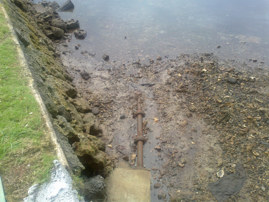 On the seaward side, the shore end of the cable out from the bulkhead has now been enclosed by steel articulated pipe