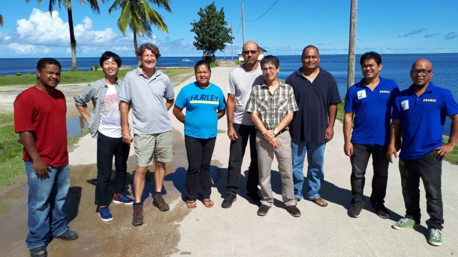 From left, Melnuis Mesubed from Palau Wi-Fi, Shinichi Yokote from DPAC in Guam, me, Nancy, Richard, Luis Tanaka, our trainer from NEC, Blailes Telechalb from PNCC and Rudolph Calapardo and Channel Sullano from Palau Telecoms.png
