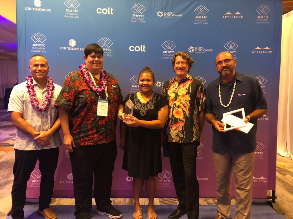 Director KB Sakuma, Treasurer Eric Whipps, Operations Support Officer Nancy Rengiil, CEO Robin Russell and Project Manager Richard Misech at the awards presentation.