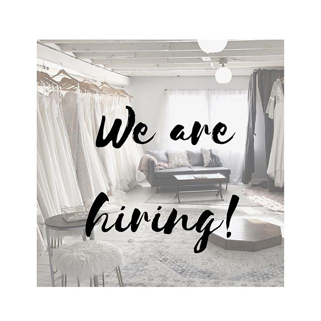 We are looking for two magical humans to join the Love Bird team! ✨ Part-time bridal stylist :: must be available Saturdays, love fashion, and be able to work with all personality types! Experience great, but not required. Willing to train the right person! ✨ Production seamstress :: must have great basic sewing skills. Will be producing veils and gowns from patterns. This is NOT an alterations position, and alteration skills are not required. If you are a fantastic sewer (machine and hand), we want you! Hours very flexible. ✨ #joblisting #bridalstylist #seamstress #production #garment #bridalteam #bridetribe