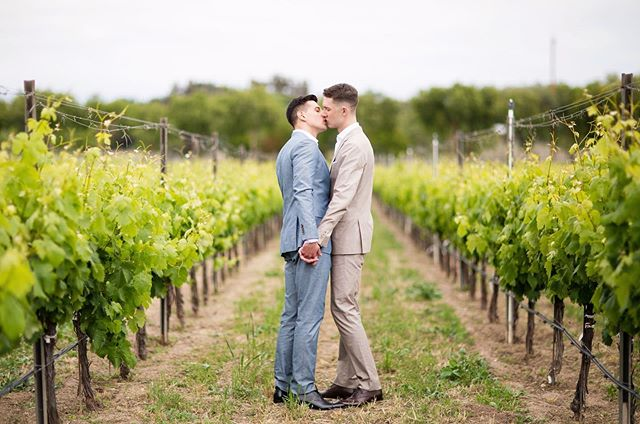 Love is love! 🏳️‍🌈 . Planner: @hovik Venue: @sognodelfiore Florals: @forageflorals DJ: @jjthedjevents Photos: @toddthephotographer Catering: @kitchen12000 Cocktails: @kitchen12000 Pies: @the_bakery_farmstand Rentals: @venturarental #davidgotfoxed