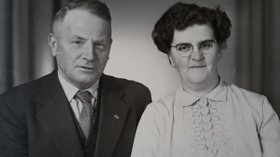 My father, the author, Hendrik Smid and my mother Jacobje Roelevink Smid