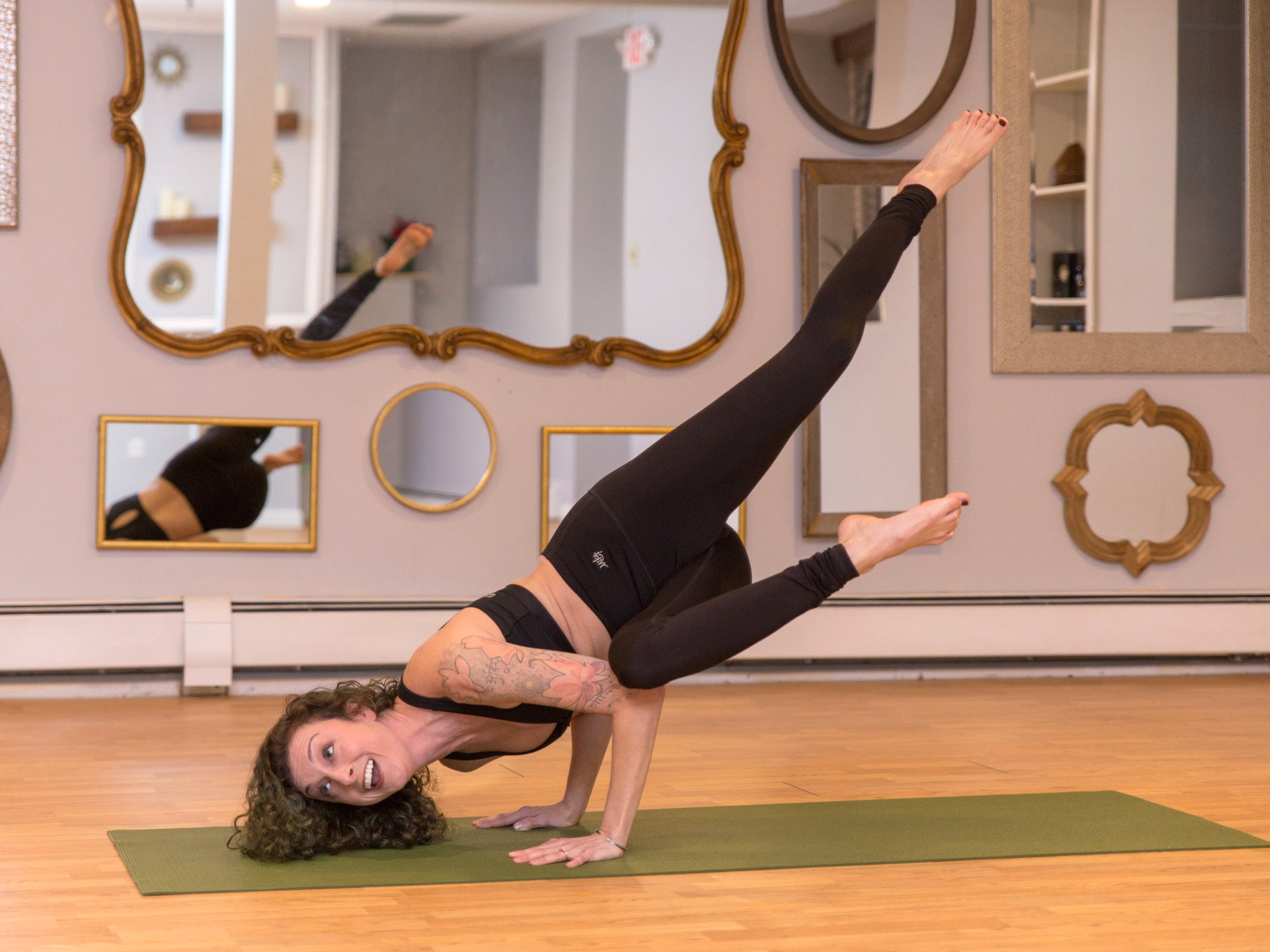 Stephanie M Hyland OWNer  I am passionate about instilling mindfulness and body awareness into each individual I encounter. I keep a non-judgmental approach to teaching to all walks of life! This is how I was taught to embrace yoga and how I wish to share it with others!  I began my yoga journey in the midst of a very challenging emotional time and I have encouraged the similar techniques to others ever since! My yoga classes focus on toning and strengthening the body but also breathing and pausing to recognize who you are in this very moment!