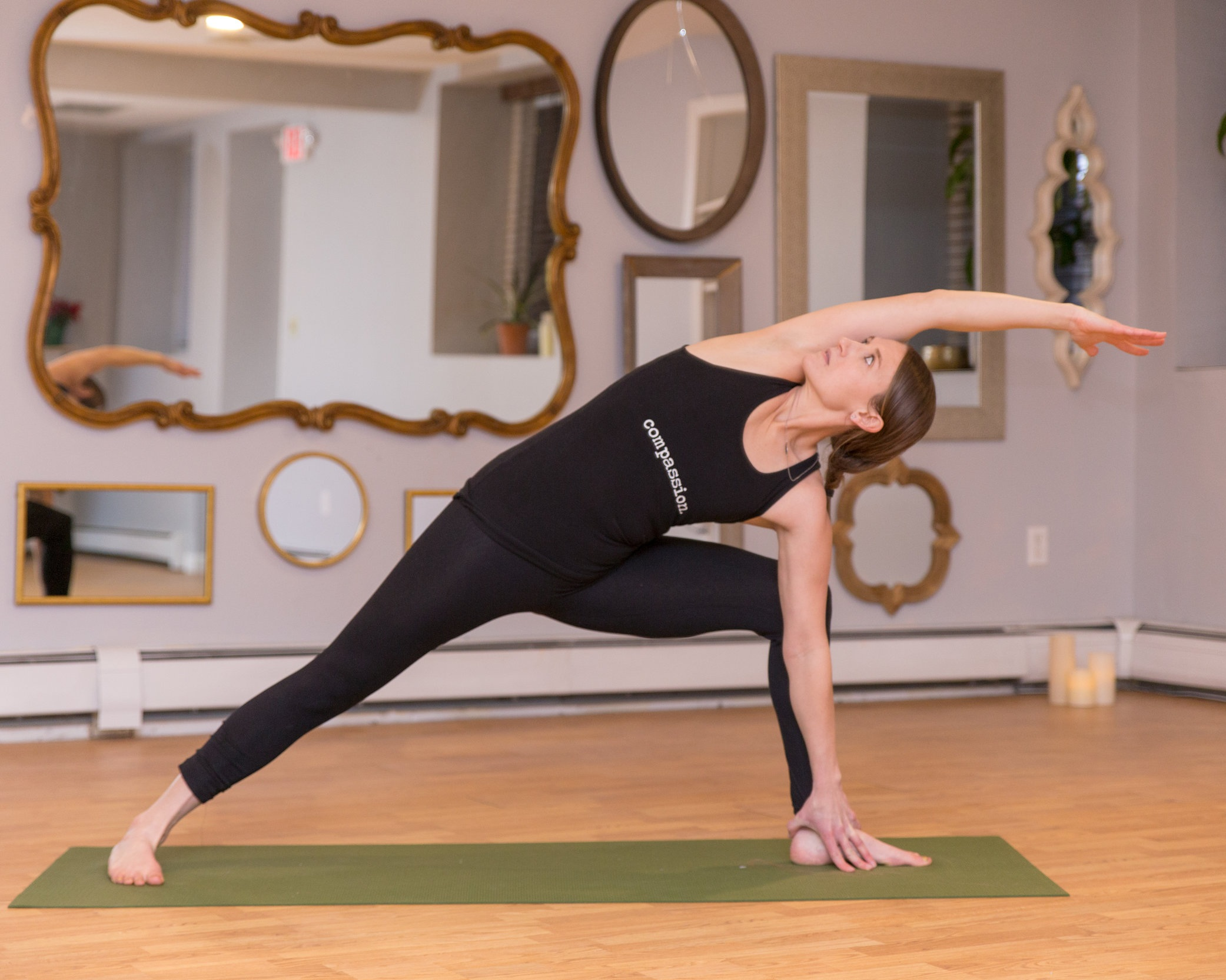 Rose Schieck  Rose's interest in yoga began as an exploration in another modality of exercise but has since transformed into a sacred practice for connecting deeper with herself and others. Rose has explored many styles of yoga over the years and believes that yoga benefits anyone and everyone. She completed her RYT 200 hr at Soulfire Power Yoga in Greenland, NH, and has years of experience as a health and fitness professional. Most recently Rose completed training for Restorative and Yin Yoga through the Muse School of Yoga in Portland, ME. She earned her B.S. in Physical Education from Plymouth State University and additionally holds certification as a Wellcoaches Health and Wellness Coach. Rose has also completed the Yoga for 12 step Recovery training and currently teaches Yoga for Addiction and Recovery for the Seacoast Area Teachers of Yoga in Action a non-profit providing access to yoga for at-risk and underserved populations.  Rose brings playfulness, empathy, and compassion to her teaching and a passion for guiding people to their ultimate state of well-being. Rose believes that yoga is a way of being, a lifestyle, a practice of discovering and accepting yourself and healing traumas and self-limiting beliefs. She speaks to the spirit in her teaching and creates a safe space for others to discover insights into their inner workings and renew their innate power.