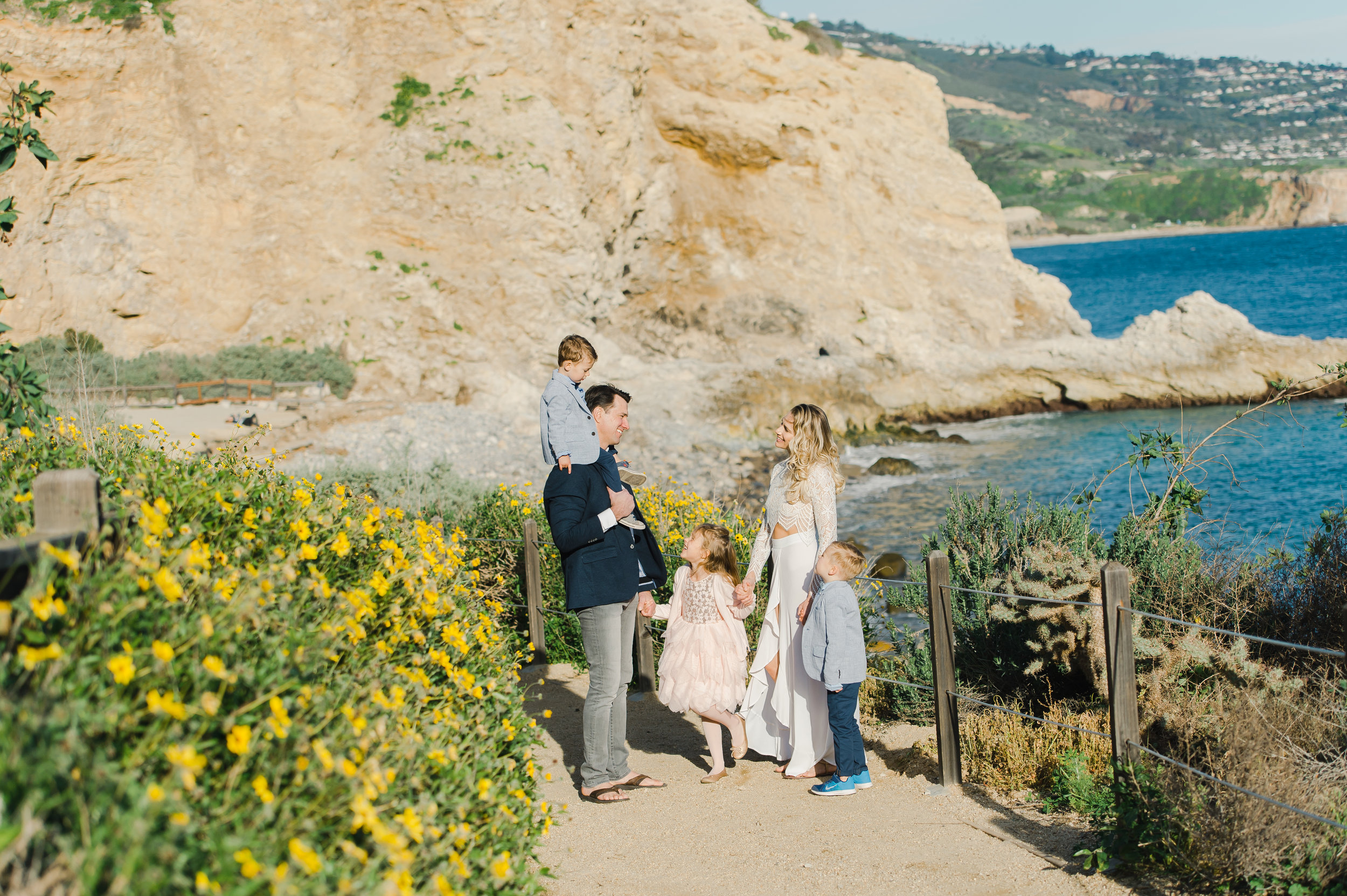 Beautiful Family Photo Session at Terranea Oceanfront Resort