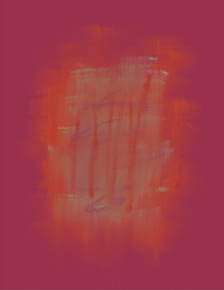 Red Orange Mood Abstract Painting