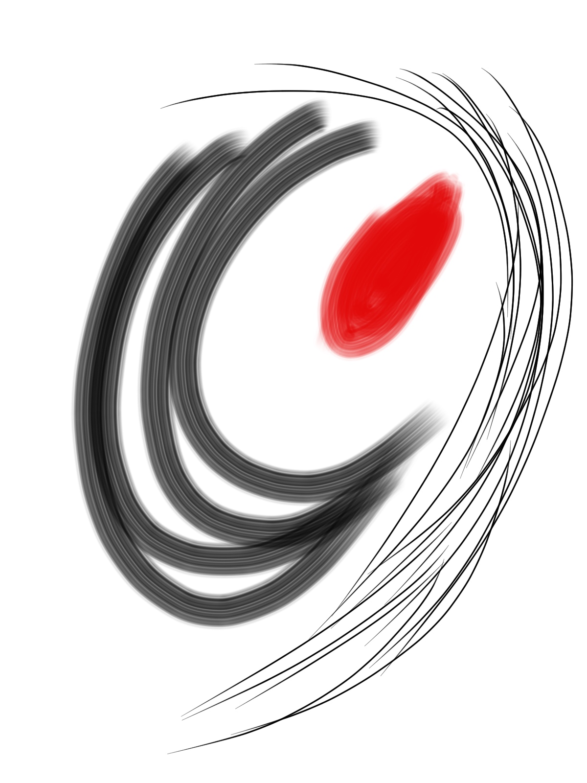 Red Dot Abstract Painting