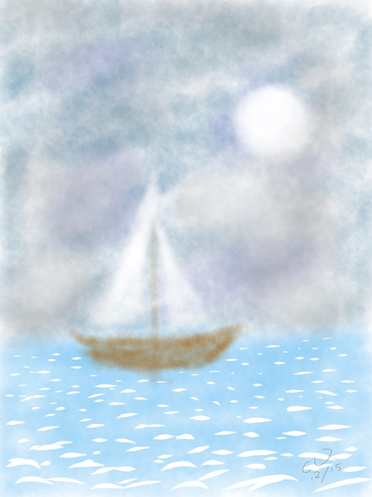 Sailboat on a Cloudy Day