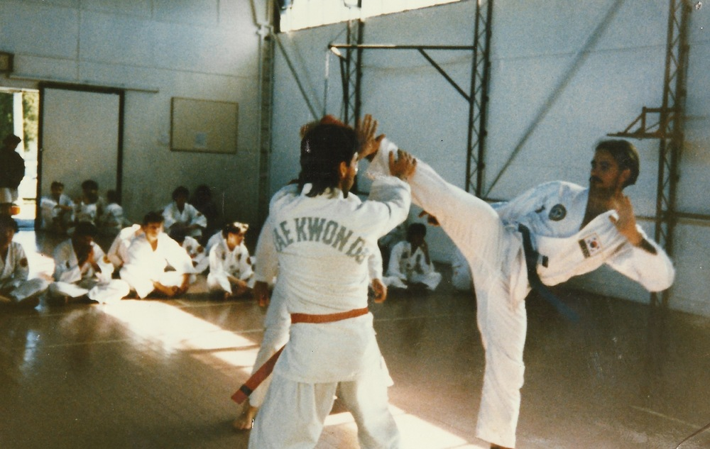Circa 1987 Master Rob as a coloured belt