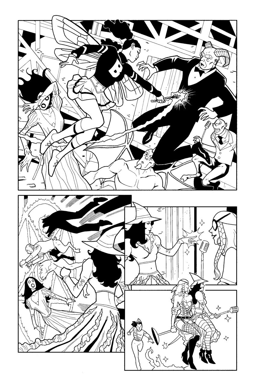 B + W Comic Art