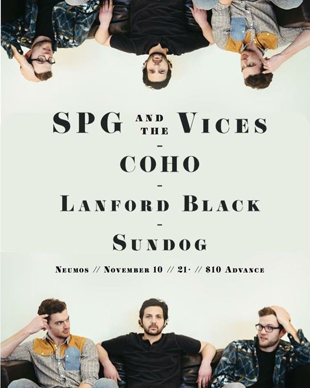 Just a couple weeks away! #neumos #seattle #lanfordblack