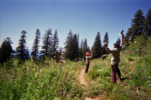 Trail work on the PCT. Klamath, 2012, 35mm.