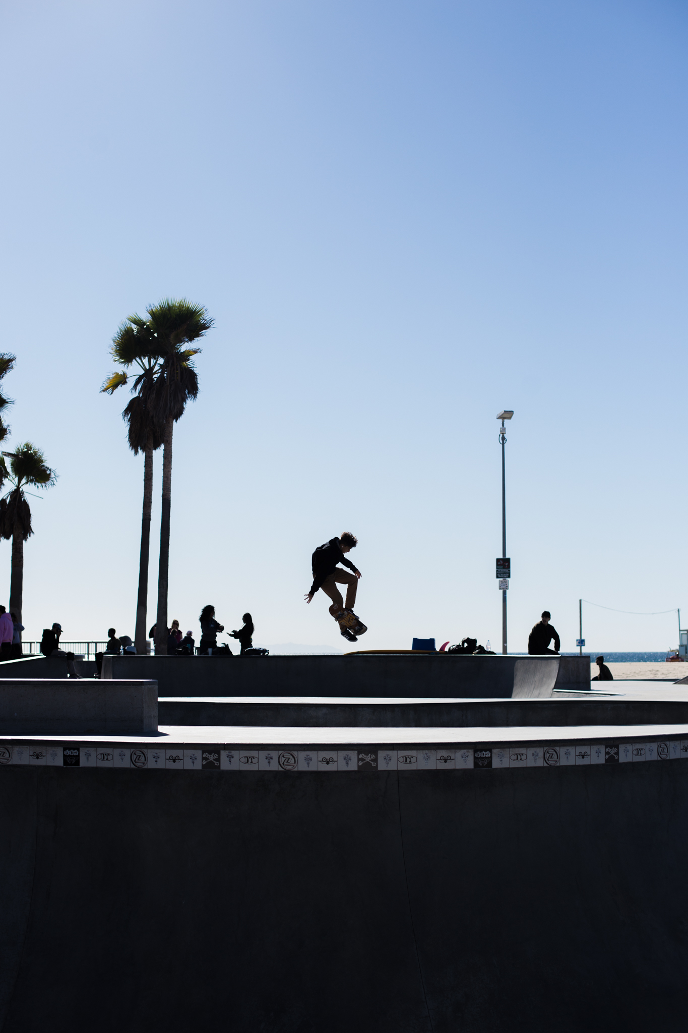 My morning walk down the Venice Beach Boardwalk. I stopped at the skate park to watch the skaters and got this cool shot