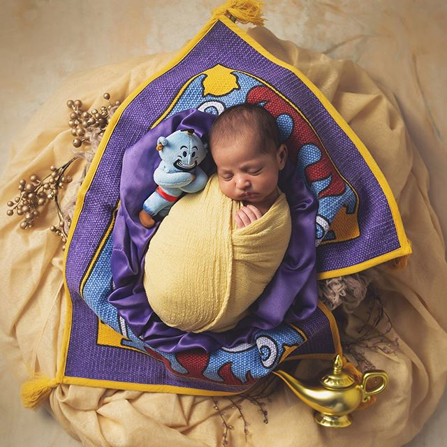 So I'm a huge Disney nerd and was so excited to create an Aladdin inspired set for this little guy. • • • #aladdin #babyboy #disney #disneyaladdin #genie #newbornart #disneybaby #njbaby #njmoms #njbabyphotographer #njnewbornphotographer #coltsneck #nj
