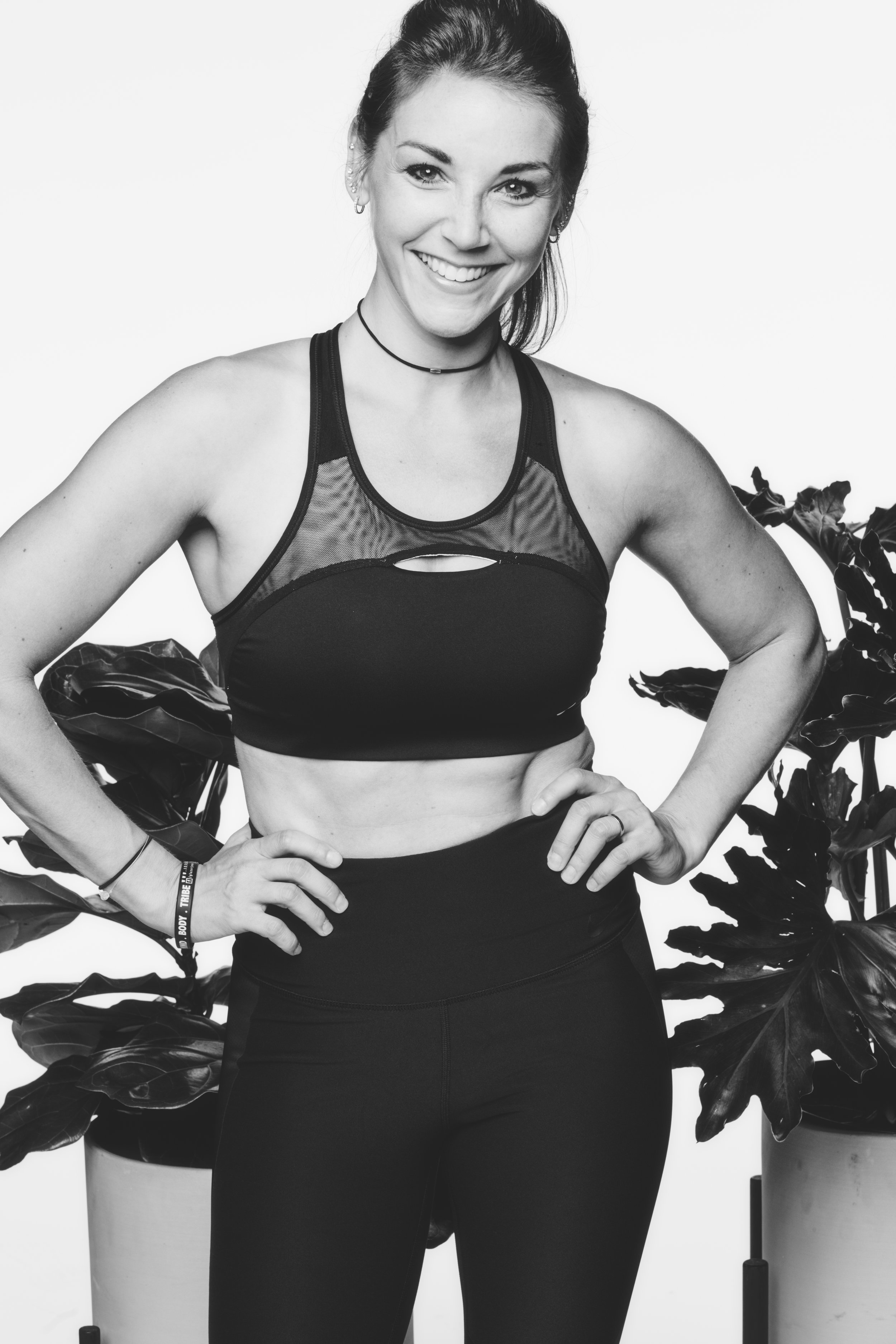 """Jess Glazer, Strength Training   Jess is a Manhattan-based personal trainer, group instructor, gymnast, fitness competitor, eating disorder survivor, self-love junkie, motivator, plant-based chef, and founder of """"FITtrips"""". Impressive, right?? We thought so when we met her and got to know her a bit. She's not only all those things, but genuine, energetic and so POSITIVE! Naturally, we hit it off because that's what we aim for in our WR instructors."""
