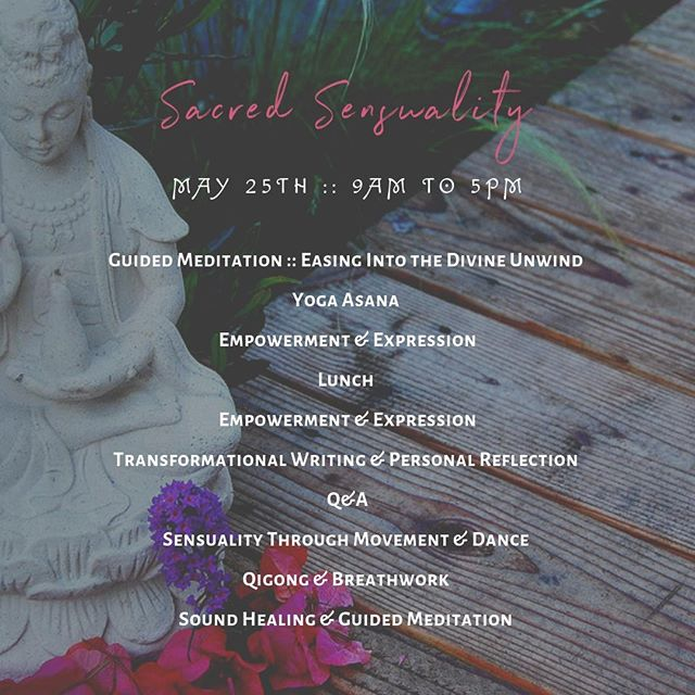 We're so excited that🌹Sacred Sensuality🌹 is days away!⠀⠀⠀⠀⠀⠀⠀⠀⠀ .⠀⠀⠀⠀⠀⠀⠀⠀⠀ Facilitators ::⠀⠀⠀⠀⠀⠀⠀⠀⠀ @channingrenee⠀⠀⠀⠀⠀⠀⠀⠀⠀ @satyahealings⠀⠀⠀⠀⠀⠀⠀⠀⠀ @theecstaticblossom⠀⠀⠀⠀⠀⠀⠀⠀⠀ @jillvbs⠀⠀⠀⠀⠀⠀⠀⠀⠀ @oldsoulopenheart⠀⠀⠀⠀⠀⠀⠀⠀⠀ .⠀⠀⠀⠀⠀⠀⠀⠀⠀ Hope to have more of you join us this Saturday 🌈⠀⠀⠀⠀⠀⠀⠀⠀⠀ .⠀⠀⠀⠀⠀⠀⠀⠀⠀ Also, looking forward to facilitating in @themommayurt⠀⠀⠀⠀⠀⠀⠀⠀⠀ #SelfWork & #SacredSpace ✨⠀⠀⠀⠀⠀⠀⠀⠀⠀ .⠀⠀⠀⠀⠀⠀⠀⠀⠀ .⠀⠀⠀⠀⠀⠀⠀⠀⠀ .⠀⠀⠀⠀⠀⠀⠀⠀⠀ #DivineUnwind #SacredSpace #SelfWork #Collaboration #CollaborativeEvent #Connection #Growth #SanDiego #SanDiegoEvent #HolisticHealth #HolisticWellness #SacredSensuality #Retreat #AllDayRetreat #WomensRetreat #SanDiegoVegan #Qigong #Yoga #YogaAsana #SoundHealing #Meditation #GuidedMeditation #Dance #EcstaticDance #Transformation #Breathwork #Sensuality