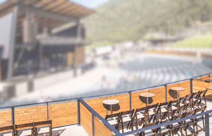 Mockup of the VIP Box Seating Section
