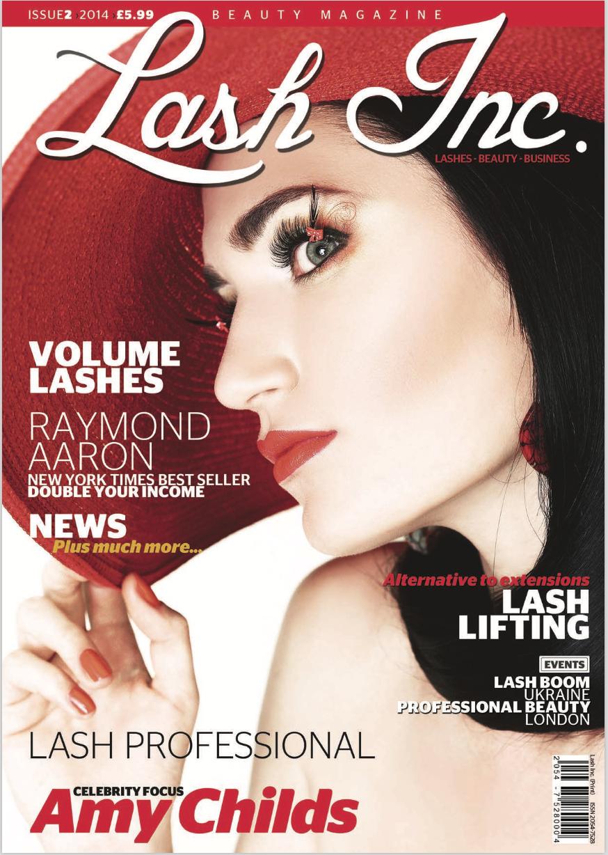 Marisol lash work featured in Lash Inc. Magazine 2014