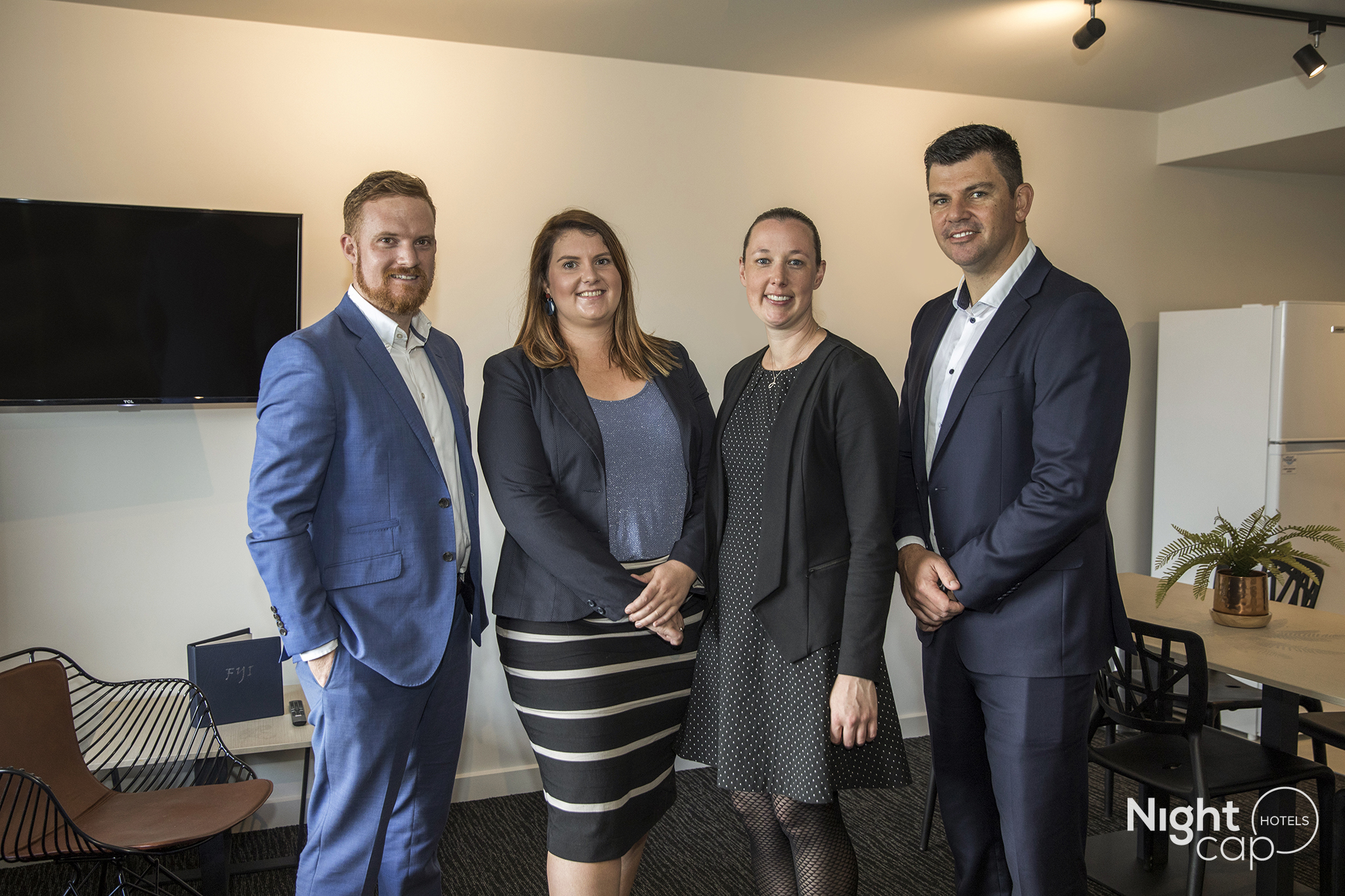 The ALH Group and Nightcap Hotels Accommodation Team (from left) Simon Kelleway, Grace Keath, Jackie Laynes and Brett Salter.