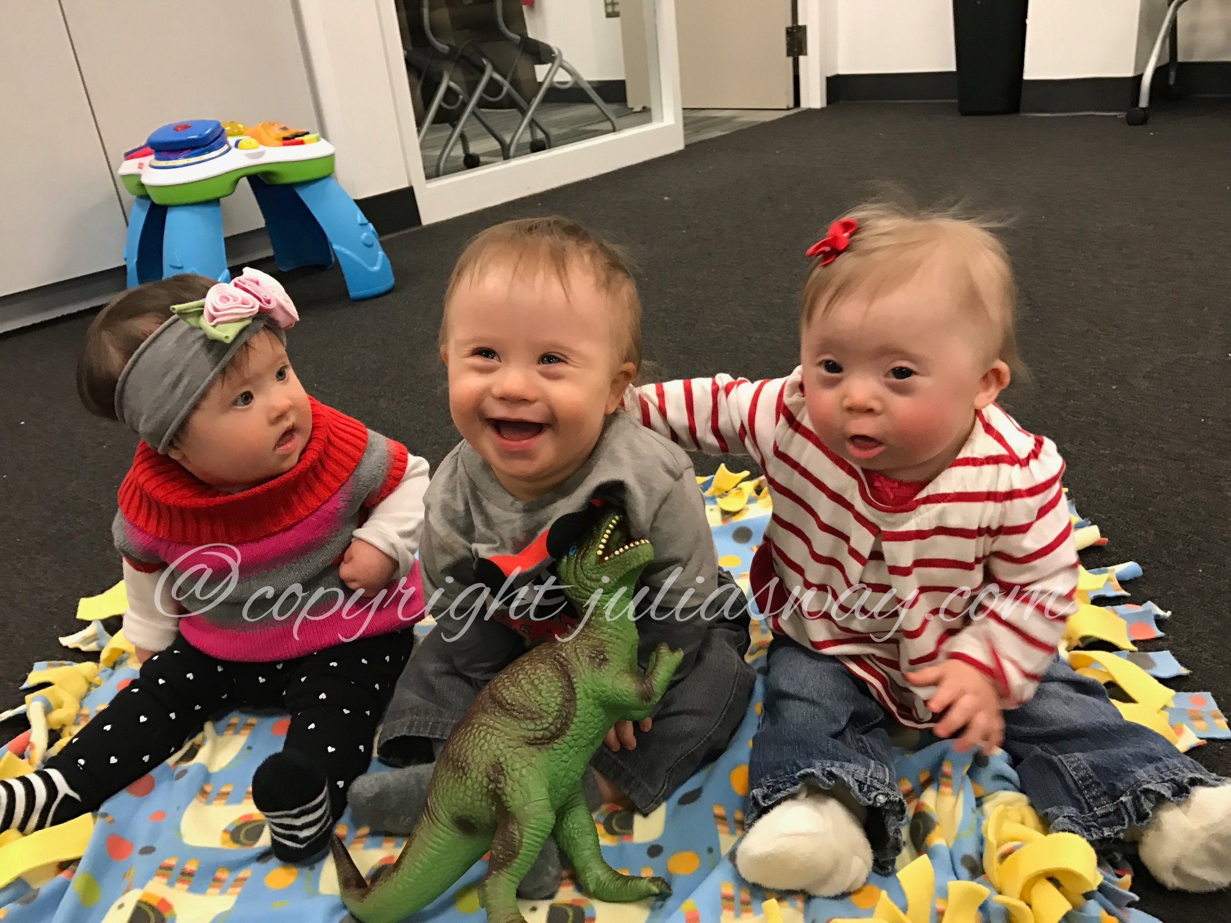 Julia Grace and her friends, rocking the extra chromosomes.