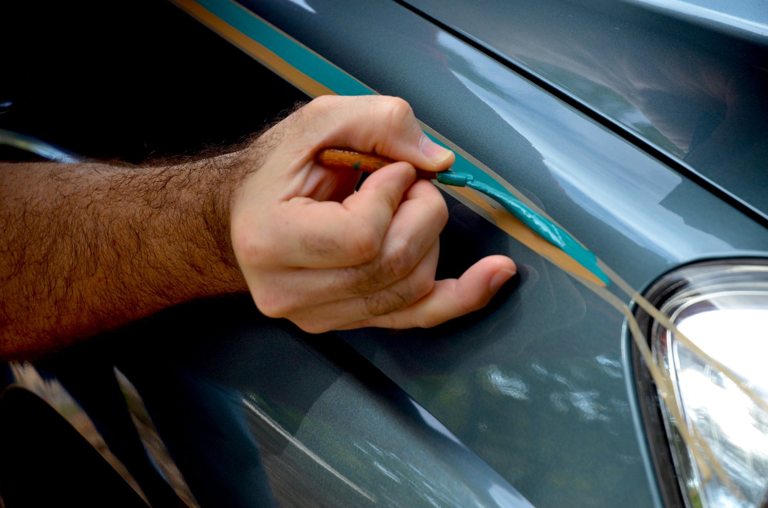 Automobile Paint Pinstriping Car Graphic Supplies Finesse Pinstriping