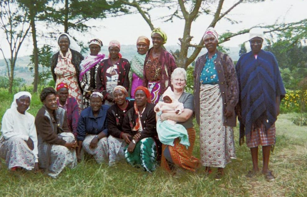 Deb with women from the Mua Hills community