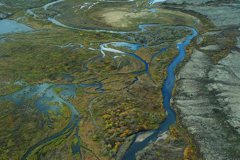 Aerial view of Bristol Bay watershed