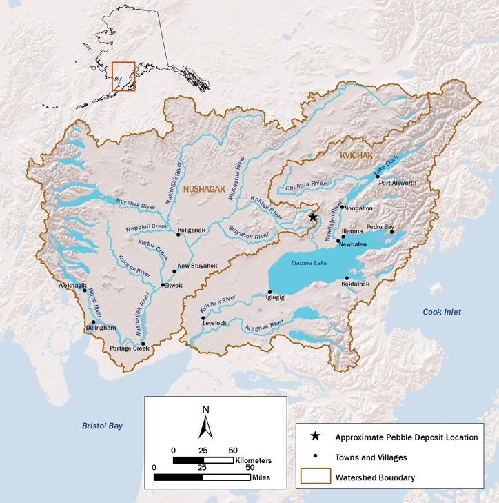 Bristol Bay Watershed Map