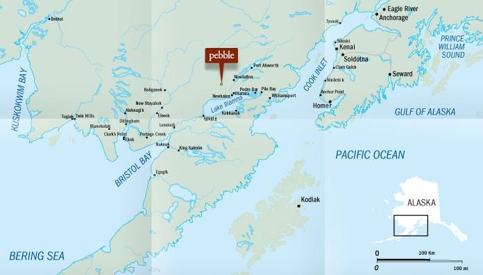 Pebble Deposit Location. Source:  The Pebble Partnership