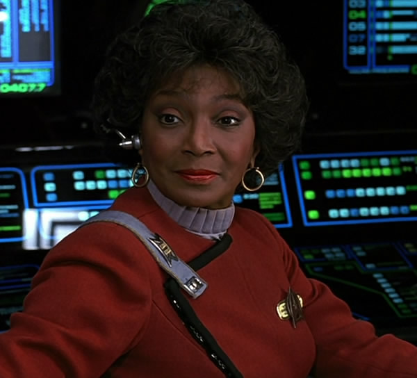 Nichelle Nichols as Commander Nyota Uhura in  Star Trek VI: The Undiscovered Country