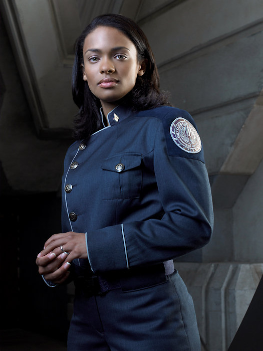 "Promotional shot of Lieutenant Anastasia ""Dee"" Dualla from  Battlestar Galactica"