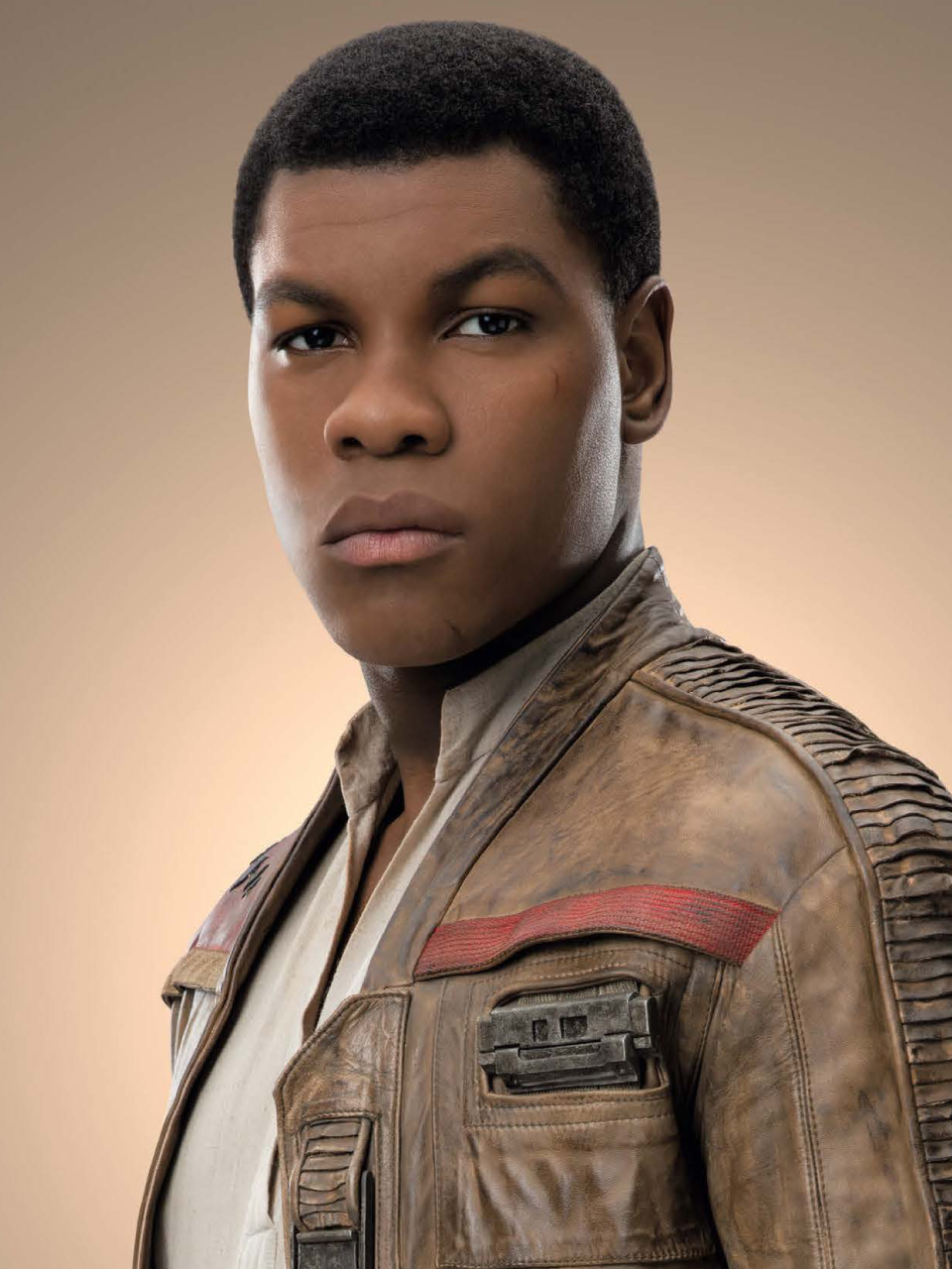 This is a copyrighted promotional image of Finn. It is believed that the copyright holder has granted permission for use under the fair use provision of United States copyright law. Source: Star Wars: The Last Jedi - The Official Collector's Edition via Wookieepedia