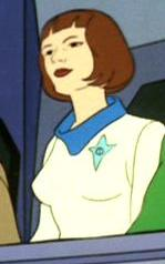 A Human female on the Elysian Council  Fair Use - this image is copyrighted, but used here under  Fair Use guidelines. Owner/Creator:Paramount Pictures and/or CBS Studios  Retreived via http://memory-alpha.wikia.com