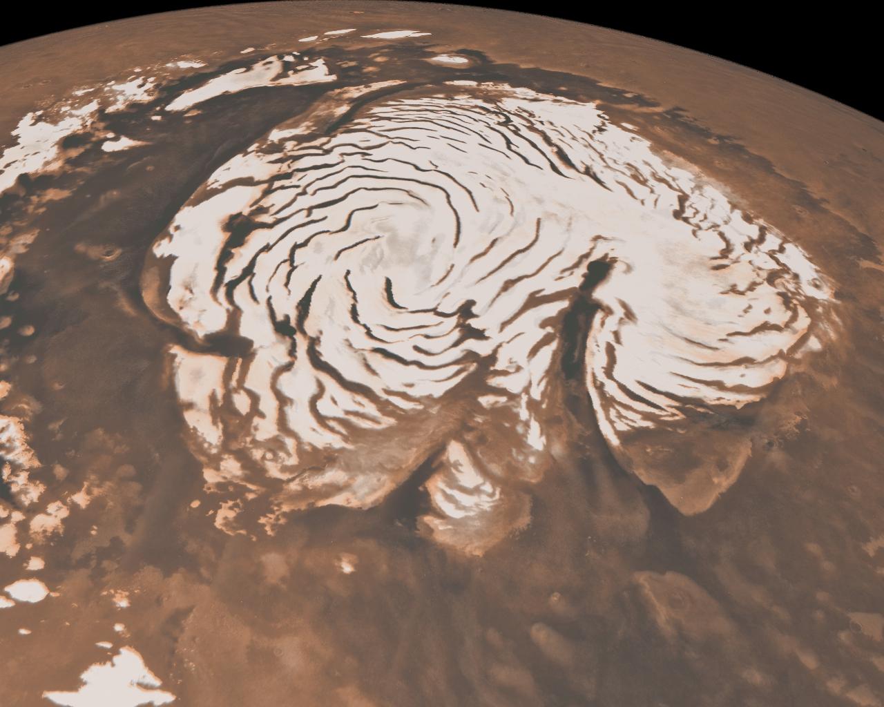 Northern Ice Cap of Mars Credit: NASA/JPL-Caltech/MSSS