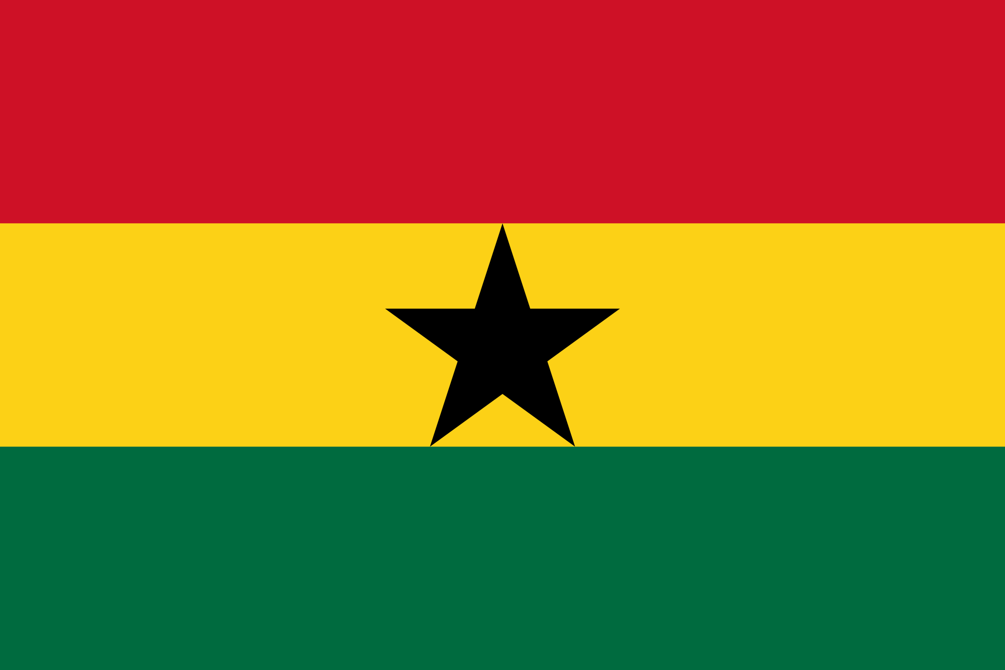 National Flag of Ghana Public Domain, https://commons.wikimedia.org/w/index.php?curid=343073