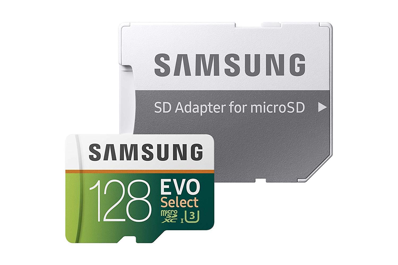 Samsung 128GB 100MB/s (U3) MicroSD EVO Select Memory Card with Adapter