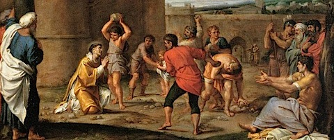 Carracci Annibale - The Stoning of St Stephen 1603-04