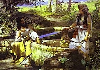 Jesus and the Samaritan woman by Semiradsky