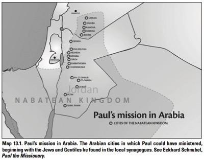 Paul in Arabia - What Jesus Started, p117.