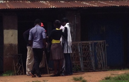 Trainees sharing the gospel in Kisumu