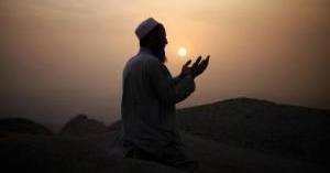 Muslim pilgrim prays atop Mount Thor in the holy city of Mecca