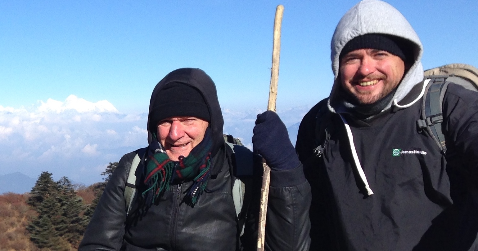 Hiking with Nathan on the Siriguri Track in north India