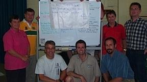 Tim Scheuer (front left)