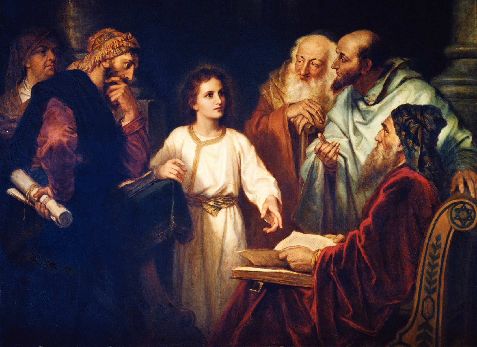 Jesus in the Temple, Heinrich Hofmann (1881)