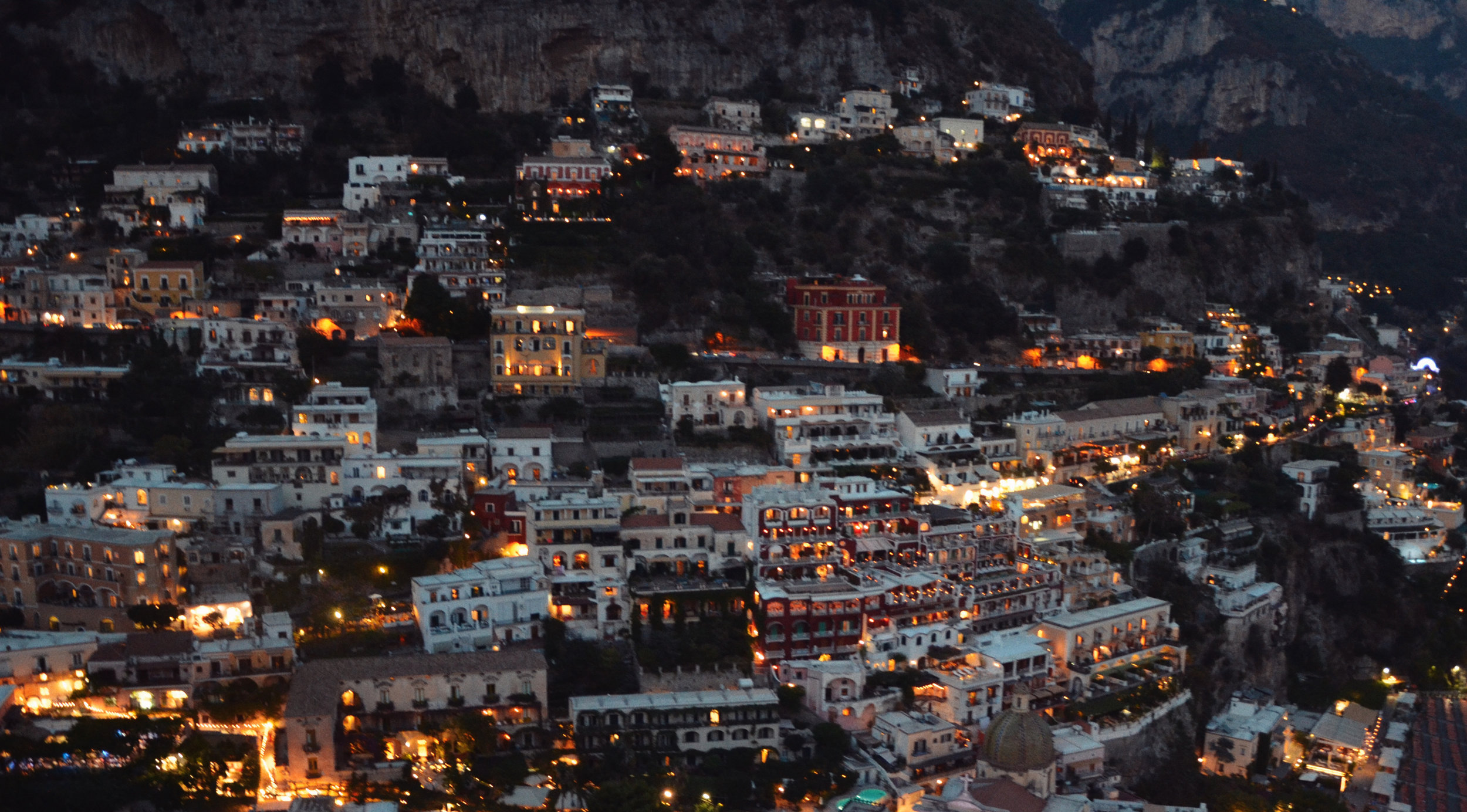 THE NIGHT LIGHTS OF POSITANO