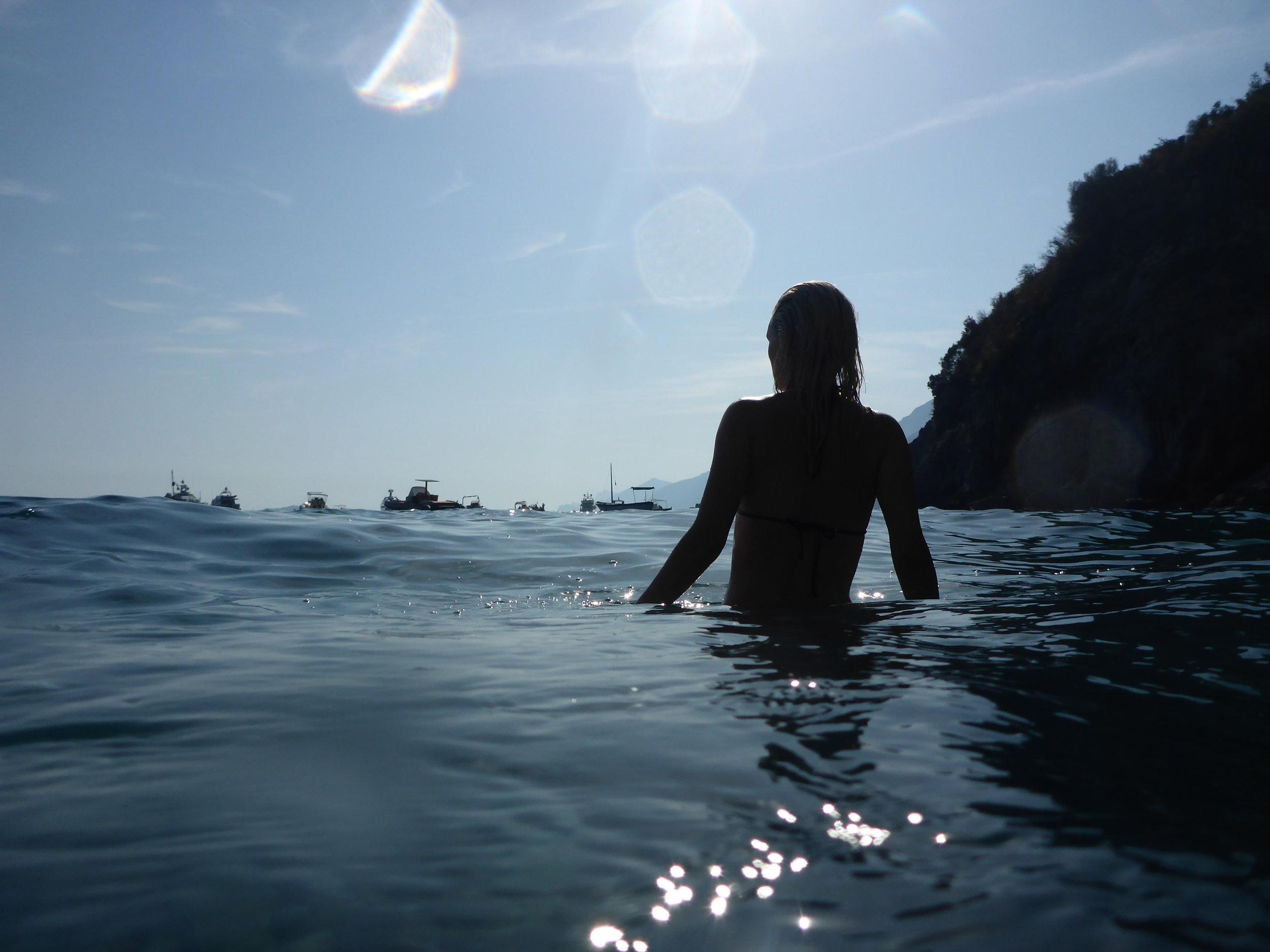 SWIMMING IN THE MEDITERRANEAN SEA