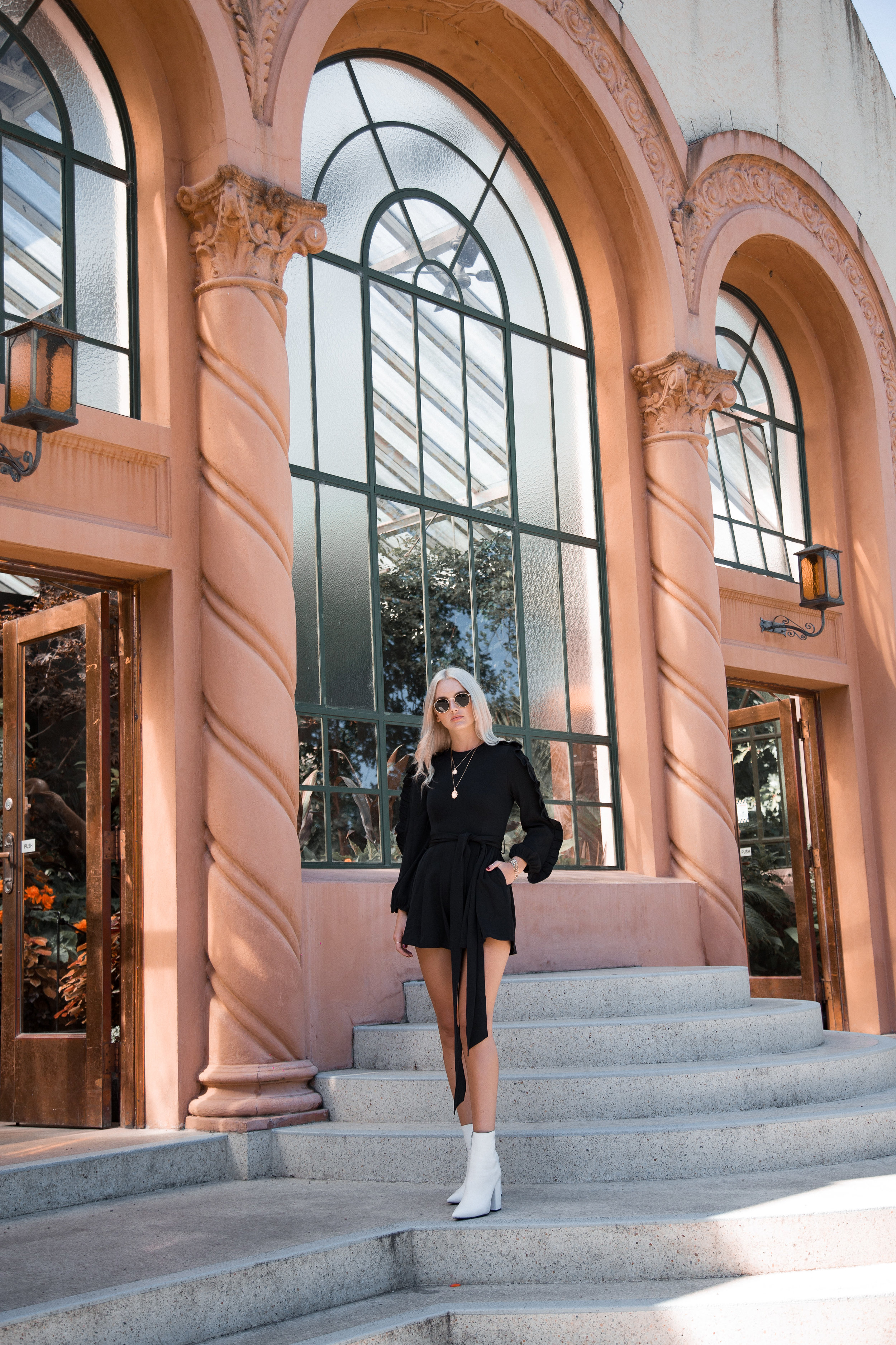 Wearing  Delphine Playsuit & Alias Mae Boots